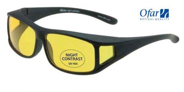 Overzetnachtbril Black Satin incl. microfiber pouch en sportief etui